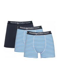 Herren-Unterwäsche von Knowledge Cotton Apparel in blau-gestreift