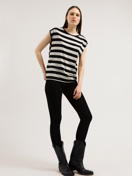 ARMEDANGELS T-Shirts Jilaa Big Stripes [black/kitt] jetzt im Onlineshop von zündstoff bestellen