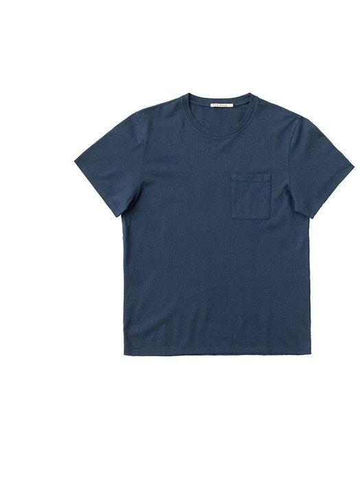 nudie Jeans T-Shirts Roy One Pocket Tee [indigo blue] jetzt im Onlineshop von zündstoff bestellen