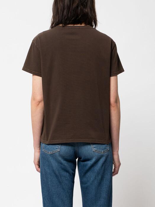 nudie Jeans T-Shirts Lisa Cropped Tee [brown] jetzt im Onlineshop von zündstoff bestellen