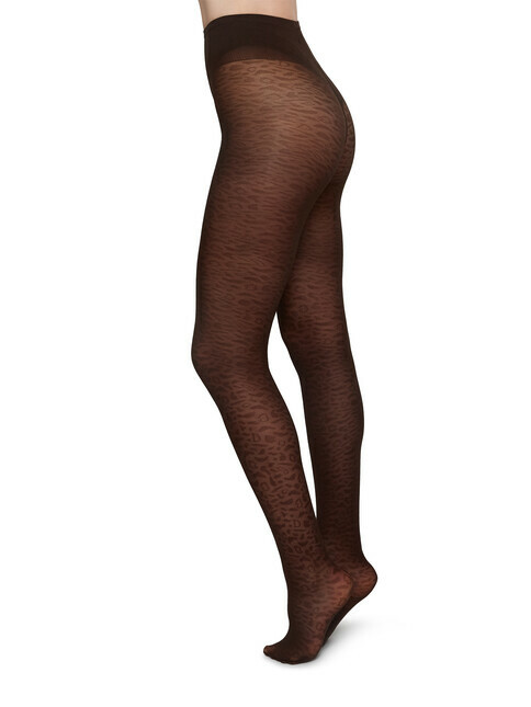 Swedish Stockings Emma Leopard [dark brown]
