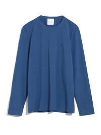 Longsleeve in blau aus Biobaumwolle und fairem Handel