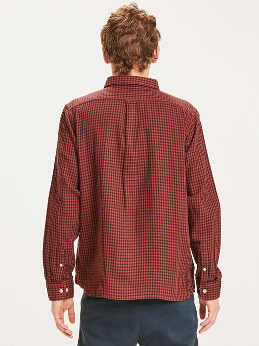 Knowledge Cotton Apparel  Hemden & Polos Larch Checked Shirt [arabian spice] jetzt im Onlineshop von zündstoff bestellen