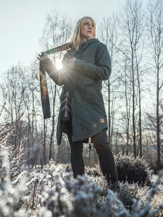 bleed clothing Jacken & Mäntel  Guerilla Thermal Parka Damen [grey] jetzt im Onlineshop von zündstoff bestellen