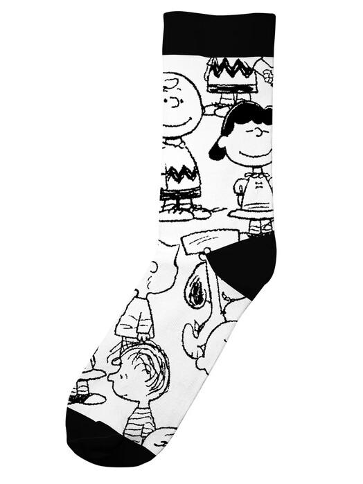 Dedicated Socken  Sigtuna Peanuts AOP [white] jetzt im Onlineshop von zündstoff bestellen