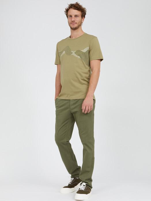 ARMEDANGELS T-Shirts Jaames Dot Mountains [dark sage] XL jetzt im Onlineshop von zündstoff bestellen
