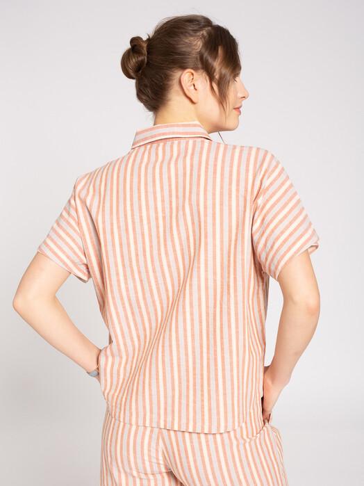 recolution  Blusen Linen Blouse Stripes [sand/coral/rose] jetzt im Onlineshop von zündstoff bestellen