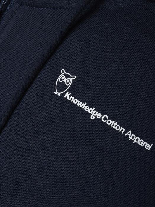 Knowledge Cotton Apparel  Hoodies Elm Knowledge Zip Hoodie [total eclipse] jetzt im Onlineshop von zündstoff bestellen