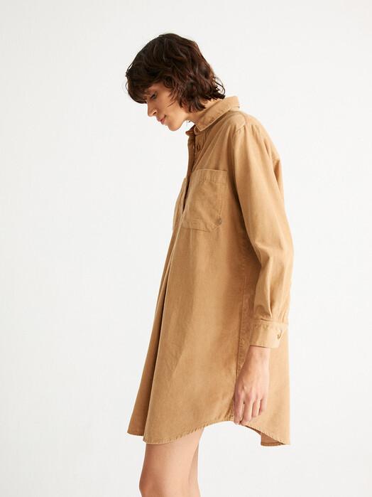 Thinking MU Kleider Neyade Dress [camel] jetzt im Onlineshop von zündstoff bestellen