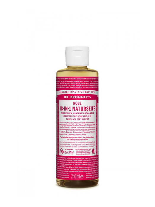 Dr. Bronner's Kosmetik Liquid Soap Rose 240ml jetzt im Onlineshop von zündstoff bestellen