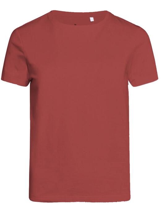 Knowledge Cotton Apparel  T-Shirts Rosa Basic Tee [marsala] jetzt im Onlineshop von zündstoff bestellen