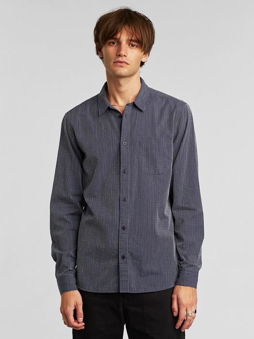 Dedicated Hemden & Polos Varberg Dobby [navy] jetzt im Onlineshop von zündstoff bestellen