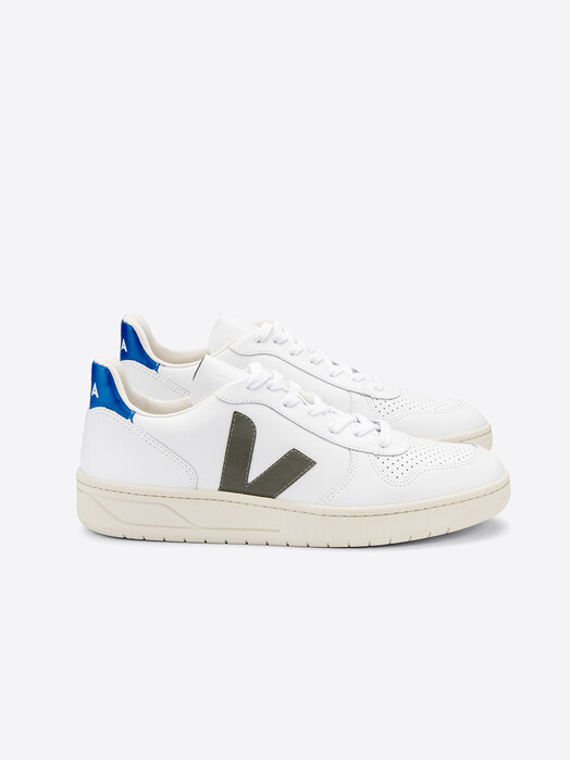 Veja Schuhe V-10 Leather [extra-white kaki indigo] 46 jetzt im Onlineshop von zündstoff bestellen