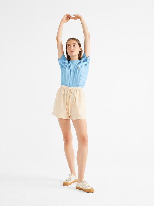 Thinking MU Shorts Seersucker Geranio Shorts [mustard] S jetzt im Onlineshop von zündstoff bestellen