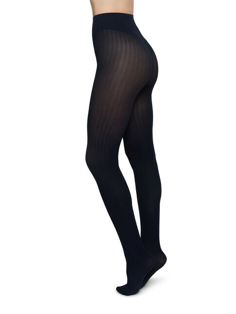 Swedish Stockings Alma Rib [navy]