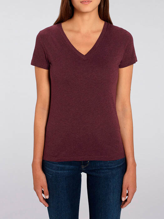 zündstoff.basics T-Shirts Emma [diverse Farben] M, heather grape red jetzt im Onlineshop von zündstoff bestellen