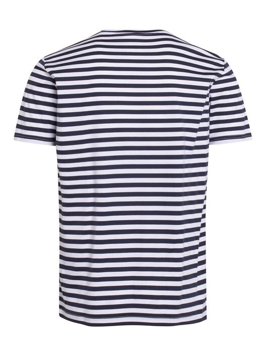Knowledge Cotton Apparel  T-Shirts Alder Mercerized Striped Tee [total eclipse] jetzt im Onlineshop von zündstoff bestellen