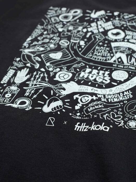 recolution  T-Shirts No Hate Frauen T-Shirt [black] jetzt im Onlineshop von zündstoff bestellen