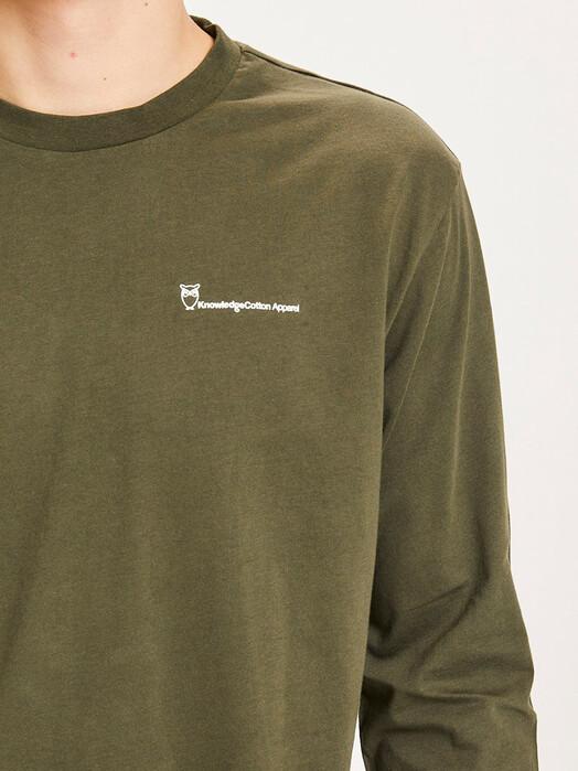 Knowledge Cotton Apparel  Longsleeves Locust Transfer Longsleeve [forrest night] jetzt im Onlineshop von zündstoff bestellen