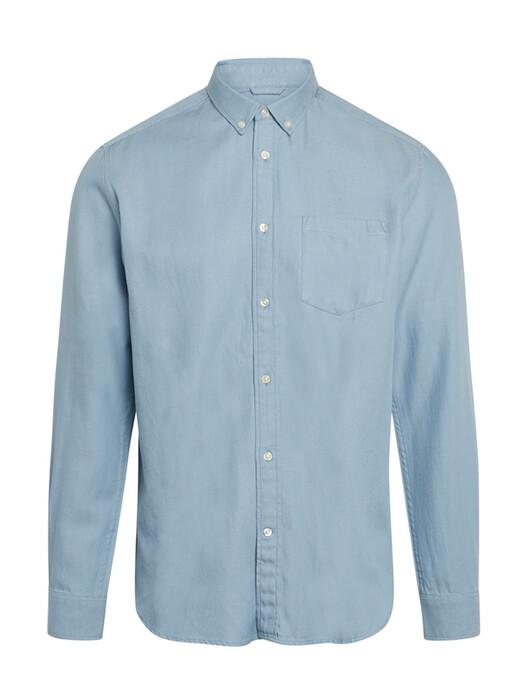 Knowledge Cotton Apparel  Hemden & Polos Larch Casual Tencel Shirt [asley blue] jetzt im Onlineshop von zündstoff bestellen