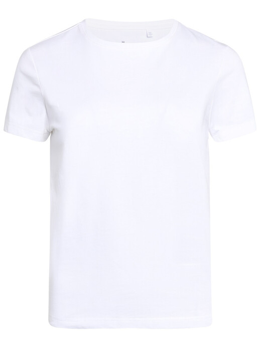 Knowledge Cotton Apparel  T-Shirts Rosa Basic Tee [bright white] jetzt im Onlineshop von zündstoff bestellen
