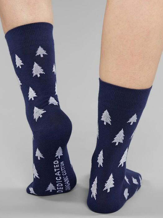 Dedicated Socken  Sigtuna Trees [navy] jetzt im Onlineshop von zündstoff bestellen