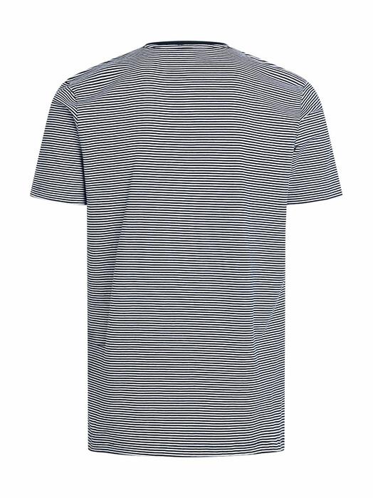 Knowledge Cotton Apparel  T-Shirts Alder Striped Basic Tee [total eclipse] jetzt im Onlineshop von zündstoff bestellen
