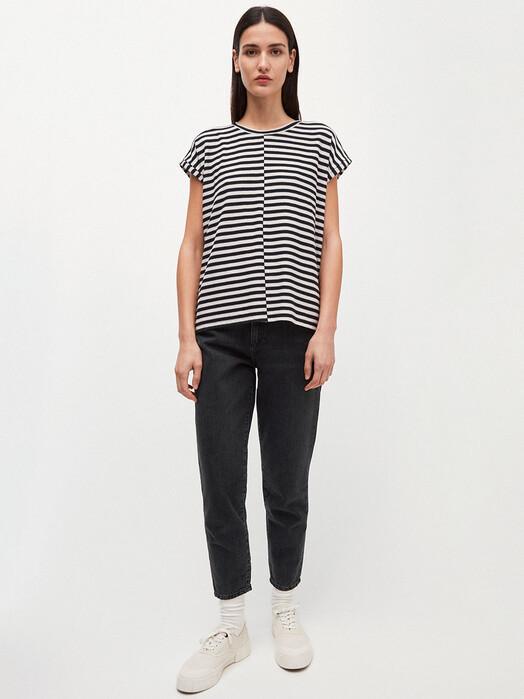 ARMEDANGELS T-Shirts Jaarin Knitted Stripe [kitt/black] jetzt im Onlineshop von zündstoff bestellen