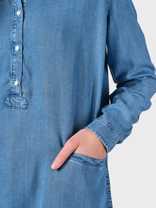 Klitmøller Collective Kleider Mathilde Chambray [light blue] jetzt im Onlineshop von zündstoff bestellen