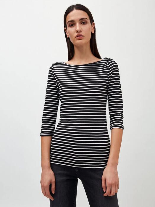 ARMEDANGELS Longsleeves Dalenaa Stripes [black/off white] jetzt im Onlineshop von zündstoff bestellen
