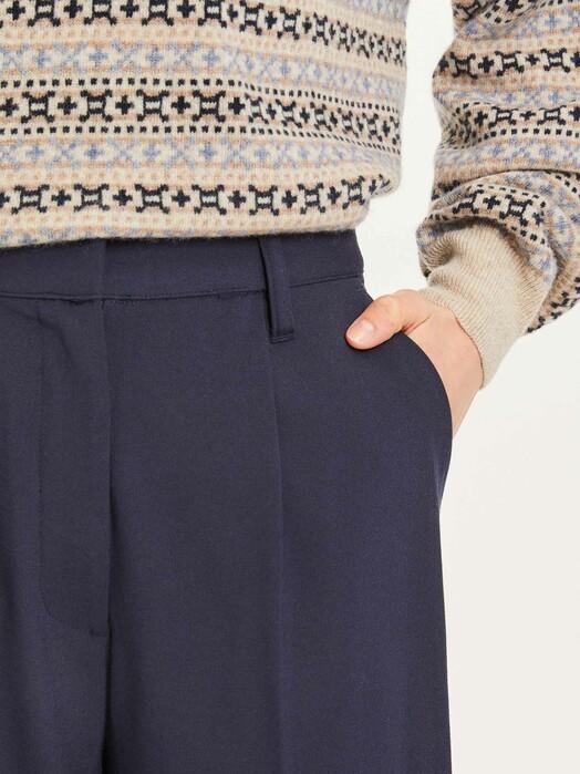Knowledge Cotton Apparel  Hosen Posey Loose Pants [total eclipse] jetzt im Onlineshop von zündstoff bestellen