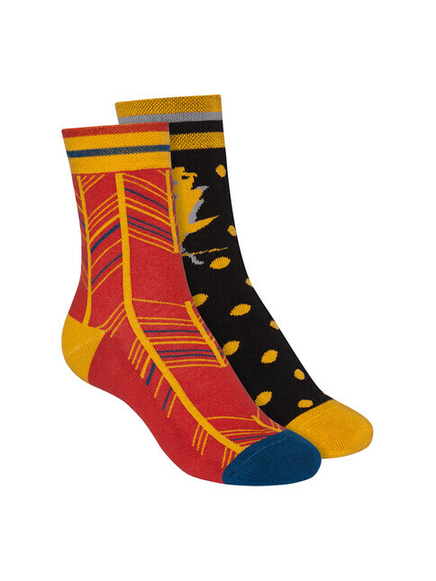 ThokkThokk  2-Pack Terry Mid Socks [indian summer/brick red]