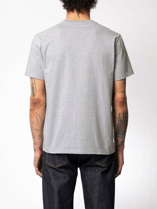 nudie Jeans T-Shirts Roy Logo Tee [greymelange] jetzt im Onlineshop von zündstoff bestellen