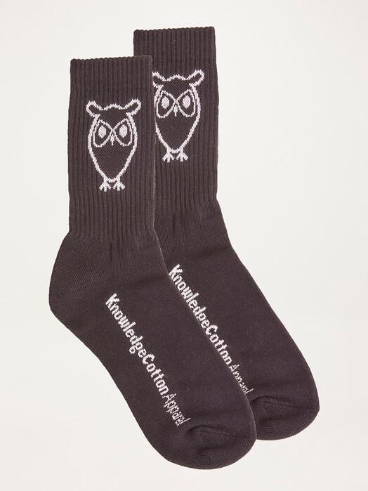 Knowledge Cotton Apparel  Socken  Linden 2-Pack Tennis Socks [black jet] jetzt im Onlineshop von zündstoff bestellen