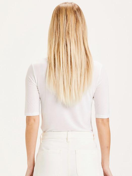 Knowledge Cotton Apparel  T-Shirts Violet Tencel Tee [bright white] jetzt im Onlineshop von zündstoff bestellen