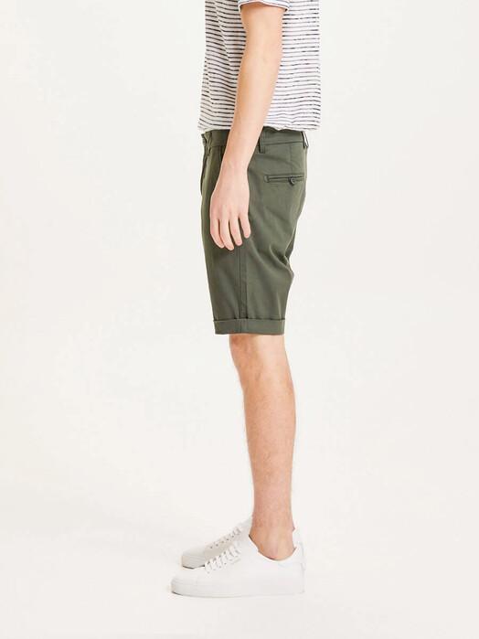 Knowledge Cotton Apparel  Shorts Chuck Regular Chino Poplin Shorts [forrest night] jetzt im Onlineshop von zündstoff bestellen