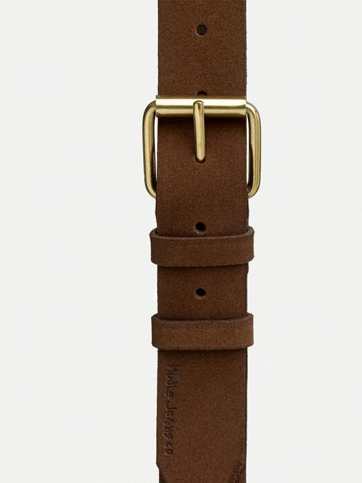 nudie Jeans Gürtel Pedersson Suede Belt [brown] jetzt im Onlineshop von zündstoff bestellen