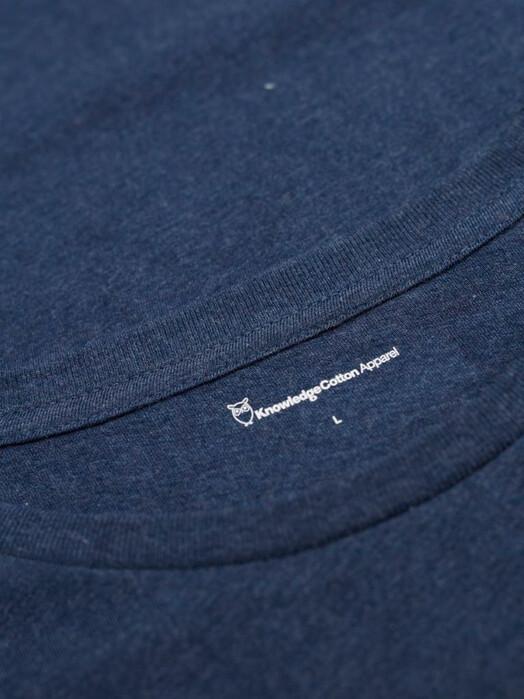 Knowledge Cotton Apparel  T-Shirts Alder Basic Tee [insignia blue] jetzt im Onlineshop von zündstoff bestellen