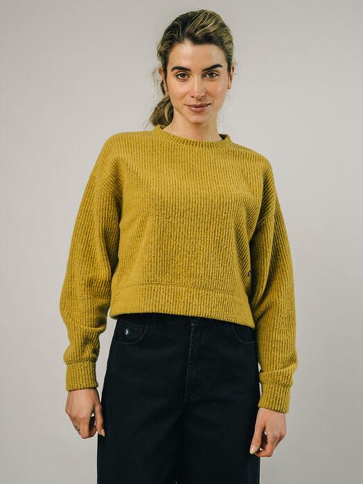Brava Fabrics Sweatshirts Jersey Cropped Sweater [mustard] jetzt im Onlineshop von zündstoff bestellen