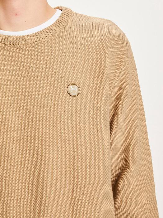 Knowledge Cotton Apparel  Strickpullover Field Pique Badge Knit [kelp] M jetzt im Onlineshop von zündstoff bestellen