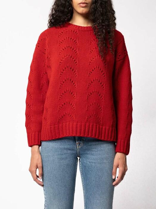 nudie Jeans Strickpullover & Cardigans Lena Fancy Knit [chili] jetzt im Onlineshop von zündstoff bestellen