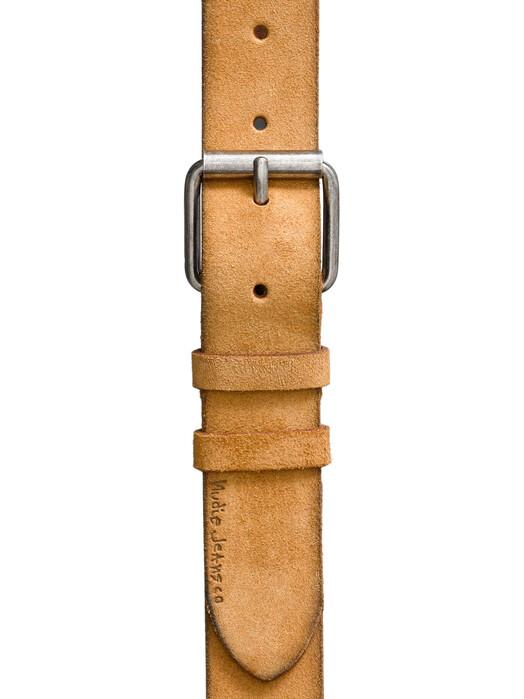 nudie Jeans Gürtel Pedersson Suede Belt [ochre] 100 cm jetzt im Onlineshop von zündstoff bestellen