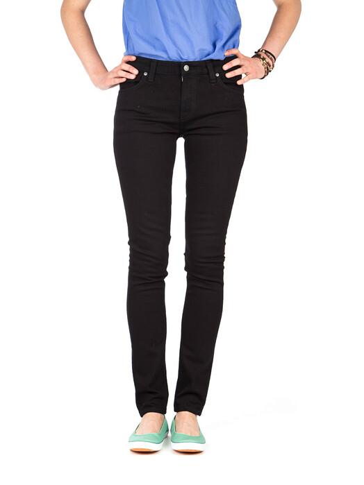 nudie Jeans Jeans Skinny Lin [black black] jetzt im Onlineshop von zündstoff bestellen