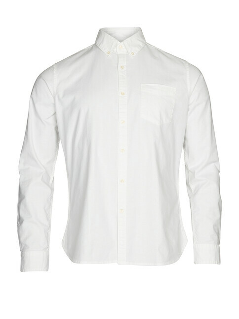 Knowledge Cotton Apparel  Stretched Oxford Shirt [bright white]