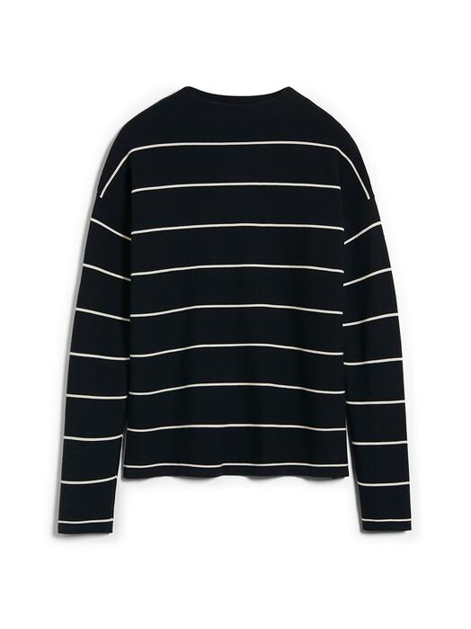 ARMEDANGELS Strickpullover & Cardigans Medinaa Fine Stripes [black/oatmilk] jetzt im Onlineshop von zündstoff bestellen