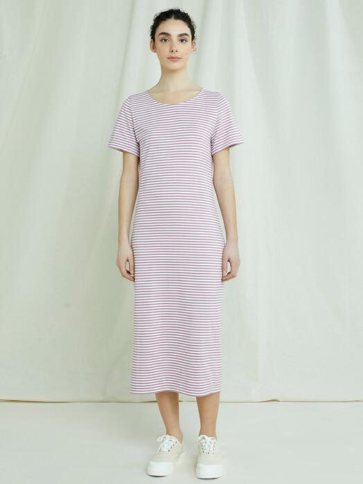 People Tree  Kleider Darika Stripe Dress [pink] jetzt im Onlineshop von zündstoff bestellen