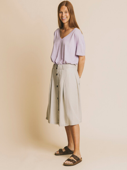Thinking MU Röcke Hemp Tugela Skirt [stone] jetzt im Onlineshop von zündstoff bestellen