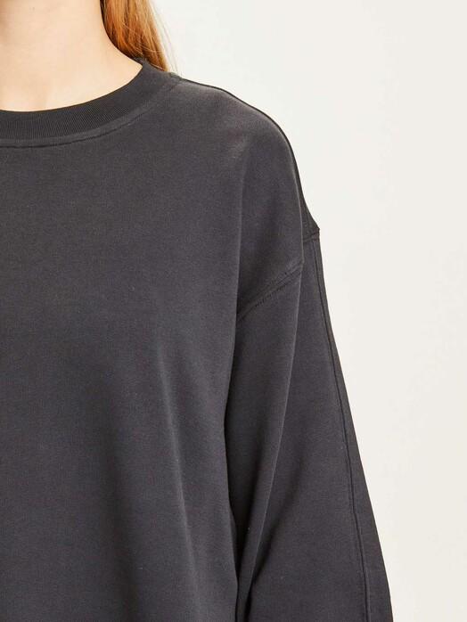 Knowledge Cotton Apparel  Sweatshirts Erica A-Shape Sweat [black jet] jetzt im Onlineshop von zündstoff bestellen