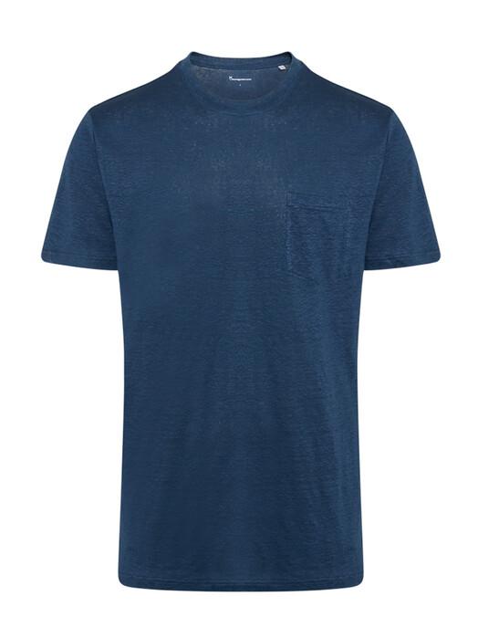 Knowledge Cotton Apparel  T-Shirts Alder Linen Tee [dark denim] XL jetzt im Onlineshop von zündstoff bestellen