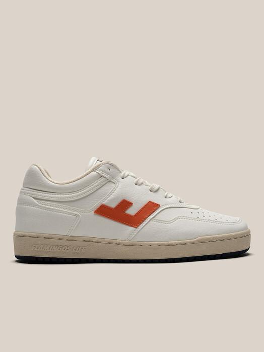 Flamingo's Life Schuhe Retro 90's Sneaker [white/orange/bicolor] jetzt im Onlineshop von zündstoff bestellen